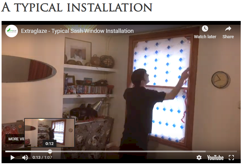 Extraglaze Secondary Glazing - Video Guides